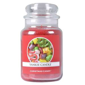 Yankee Candle Large Classic Jar Festive Fragrances Christmas Candy Red 623g £12.99 / £15.98 delivered @ Clearance shed