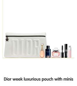 UPDATED Free Dior luxury miniatures bag when you buy any Dior fragrance over 90ml, Sauvage 100ml comes gift wrapped for you!   @ Boots