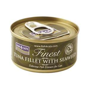 Fish4cats tuna and seaweed cat food,70g,pack of ten.