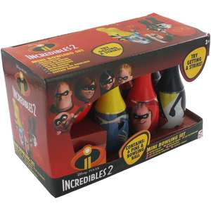 Incredibles 2 :  Mini Bowling Set rrp £7.99 now £4 , with code £3 @ The Works C&C