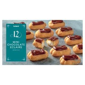 Iceland 12 Mini Chocolate Eclairs 140g just 50p for 1 day only 13/12  @ Iceland