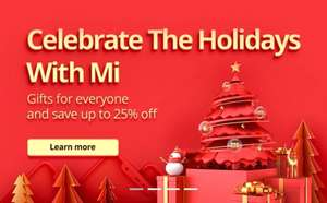 Celebrate The Holidays With Mi.com - Dec 13th - 25th - Up To 25% Off Xiaomi Redmi 6A For £95 + Mi Band 3 For £9.99 @ Mi.com