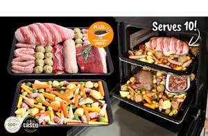 Xmas feast for 10 for only £39 from Musclefood