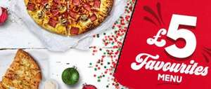 Pizza Hut £5 Favourites including medium pizzas (full list in description)! Take away only