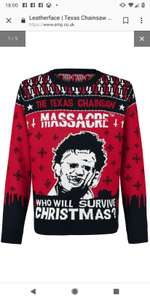 Texas chainsaw massacre Christmas jumper/ sweater 67% off - £16.99 + £3.99 Delivery @ EMP