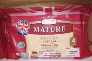 Mature British Cheddar 400g £1.79 Aldi