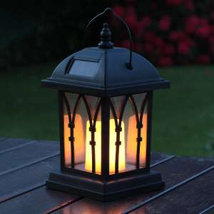 Garden Candle Lantern Solar Powered Flickering Effect LED 27cm @ Sold by Festive Lights Ltd and FBA £11.99 Prime £16.49 Non Prime.