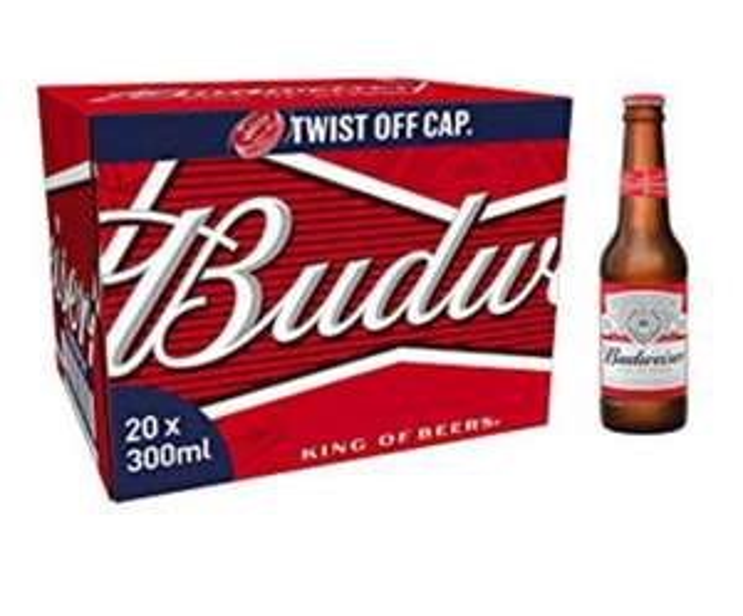Budweiser 20x300ml bottles £10 @ Lidl