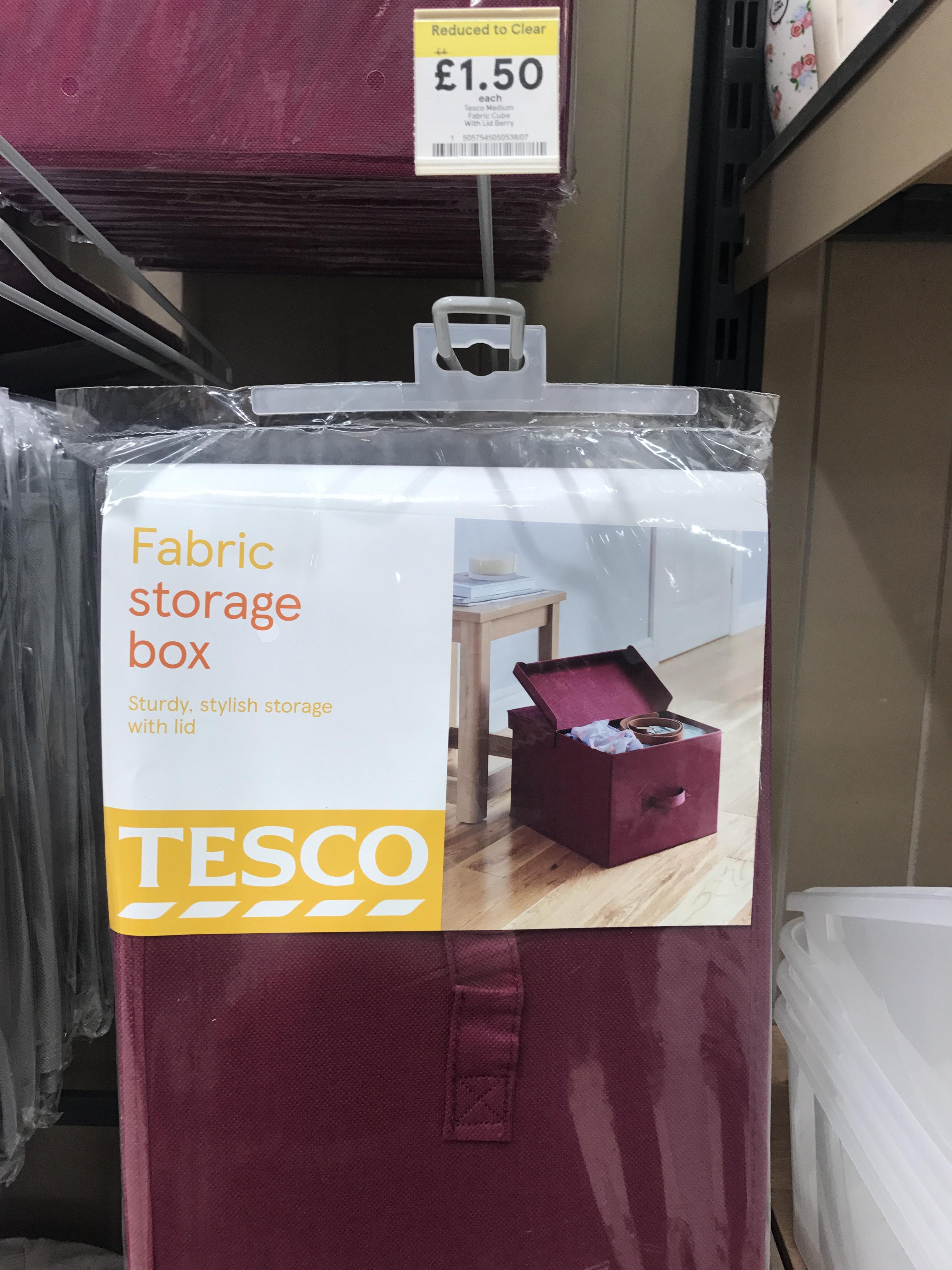 Tesco Fabric Storage Boxes NOW £1.00 @ Tesco