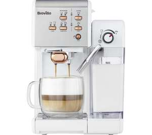BREVILLE One-Touch VCF108 Coffee Machine - White & Rose Gold £149.99 @ Currys
