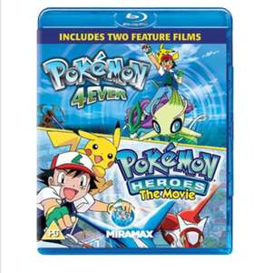 Pokemon Forever And Pokemon Heroes Blu-Ray - £7.69 @ Base.com