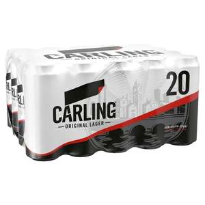 Morrisons, instore only, 2 x 20 cans Carling for £20