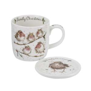 Half Price Royal Worcester Wrendale Family Christmas Mug and Coaster  £7.99 + £2.99 delivery @ Portmeirion