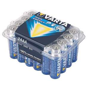 24 x AAA or AA Varta Batteries £7.49 at Screwfix - They really are great batteries :-)