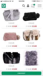 Cross body bags for £6.49 from deichmann and free delivery