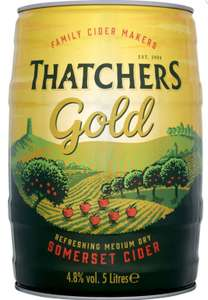 5l kegs of Strongbow and Thatchers cider reduced to £7.50 Tesco Stores (Llandrindod)