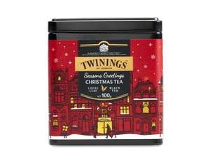 Twinings CHRISTMAS TEA - LOOSE TEA CADDY - £5.25 + £3.95 @ Twinings