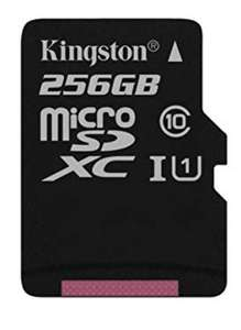 Kingston SDCS/256 GBSP MicroSD Canvas Select Class 10 UHS-I Speeds Up to 80 MB/s Read for £45.08 delivered @ Amazon UK