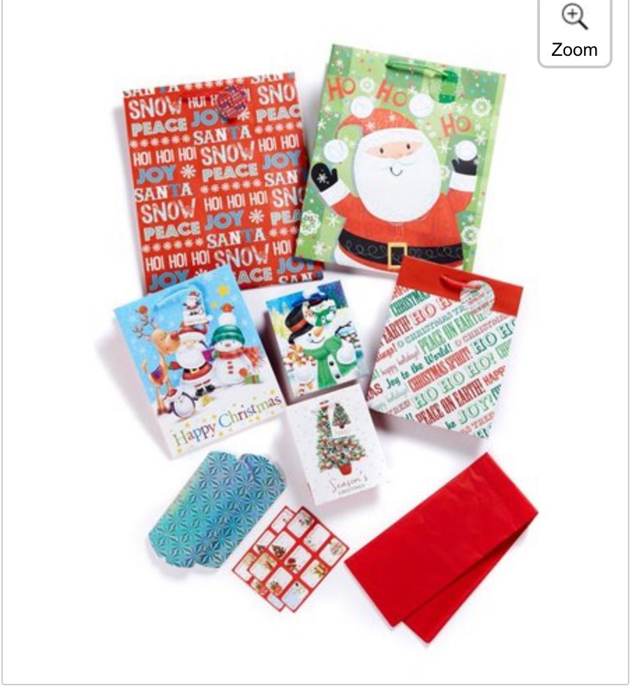 xmas gift bag assortments, 16 pcs - £1.49 + Studio