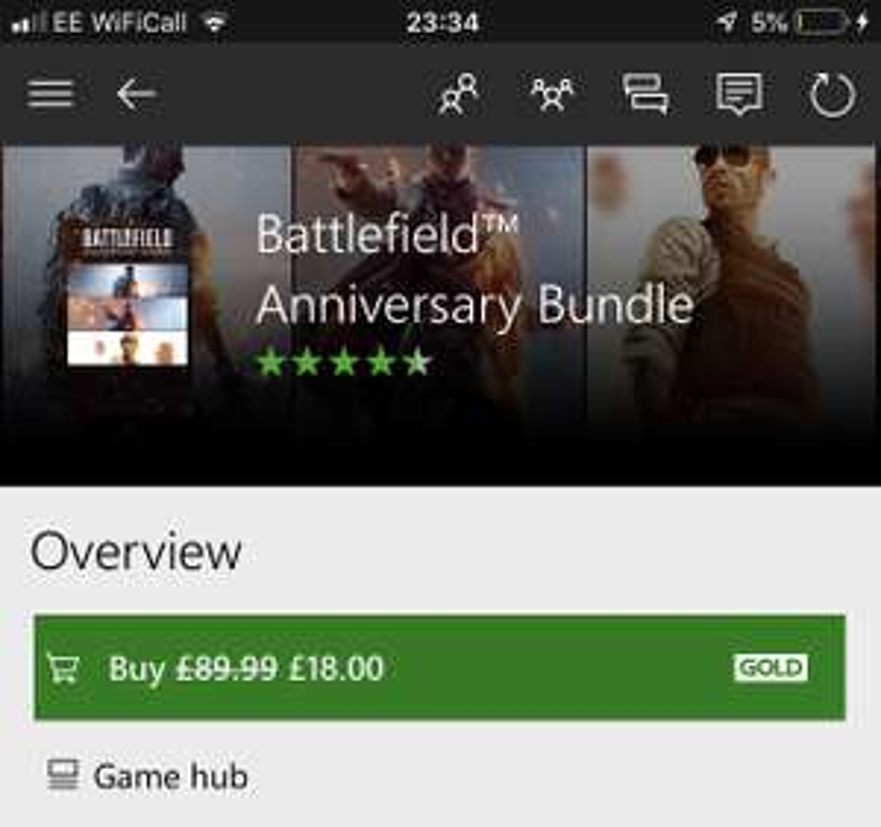 Battlefield Anniversary Bundle - £18 @ Microsoft