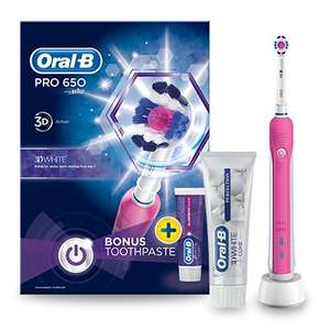 Oral B Pro 650 Electric Toothbrush less than half price £17.60 w/code C+C at Lloyds Pharmacy