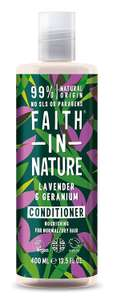 Faith In Nature Lavender & Geranium Conditioner Normal To Dry Hair 400mlNOW £2.75 (add-on item) at Amazon