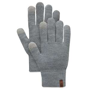 Timberland Knitted Touchscreen Gloves in Grey. Free Xmas Express Delivery @ Timberland