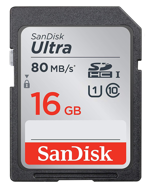 SanDisk Ultra SDHC Memory Card 16GB - Class 10 £4.90 - add-on item @ Amazon