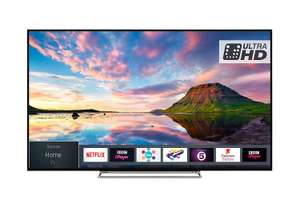 Toshiba 49U5863DB 49-Inch Smart 4K Ultra-HD HDR LED WiFi TV with Freeview Play - Black/Silver (2018 Model) - £349 @ Amazon