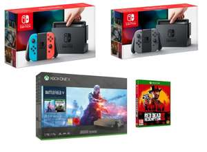Nintendo Switch Grey / Neon £229.99 with 12 month BNPL || Xbox One X Battlefield v or Forza 4 or Game Pass + RDR 2 £359.99 @ Very