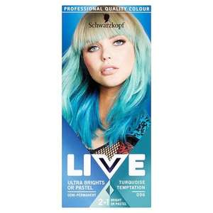 Superdrug instore Schwarzkopf Live Brights and Neon hair dye 55p and 100 points wyb two, so 10p for two with Beautycard.