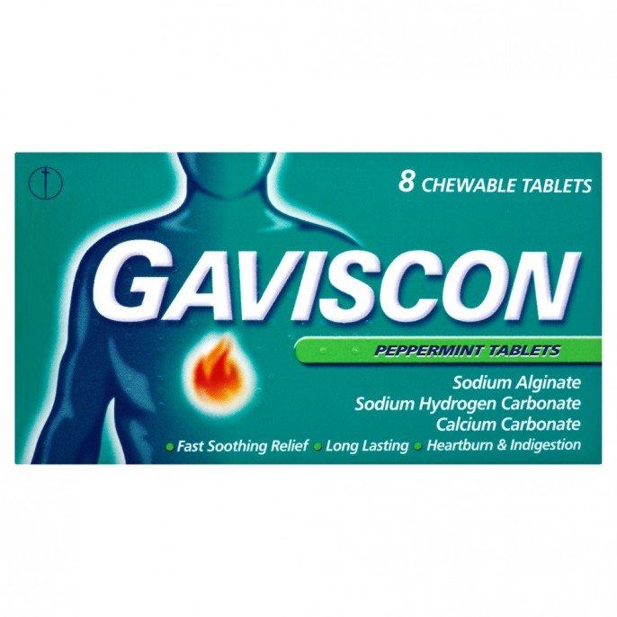 Gaviscon Chewable Peppermint Tablets 8 pack - 90p @ Poundstretcher