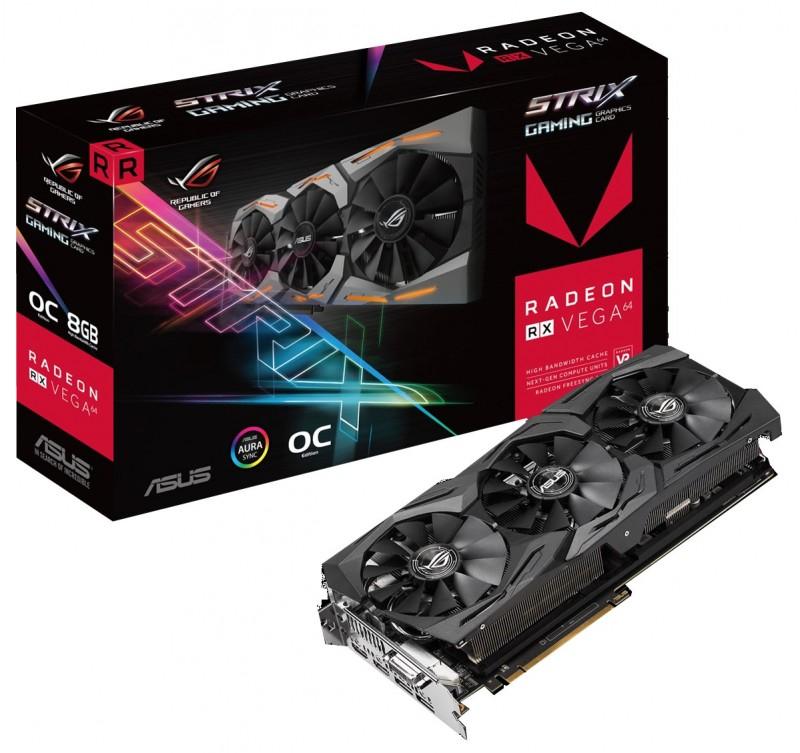 ASUS AMD RADEON RX VEGA 64 ROG STRIX OC 8GB £428.99 (free shipping with Amazon Pay)  @ OverclockersUK