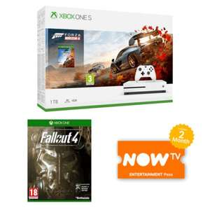 Xbox One S 1TB + Forza Horizon 4 Bundle + Fallout 4 + Now TV subscription 2 months £199.99 GAME