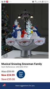 Snowing Snowman - £24.99 + £4.99 Delivery @ Studio