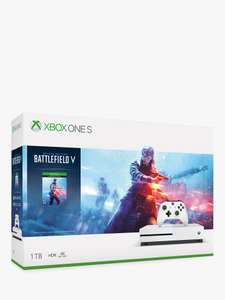 Xbox One S Console, 1TB, Wireless Controller and Battlefield V Bundle or Minecraft Bundle + 2Yr Guarantee, £199.95 John Lewis & Partners