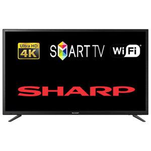 """Refurbished Sharp LC-49CUG8052K 49"""" Smart LED TV 4K Ultra HD, £247.80 at tesco outlet/ebay"""