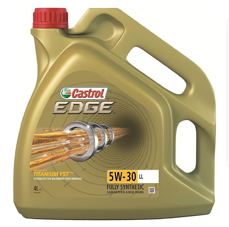 Castrol 15668E EDGE 5W-30 LL Engine Oil, 4L Gold £25.40 @ Amazon