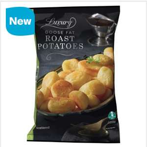 Iceland Luxury Goose Fat Roast Potatoes 1.05Kg + FREE Metal oven Tray - £1.50 14/12 @ Iceland