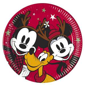 Mickey and Minnie Paper Plates 74p shopdisney