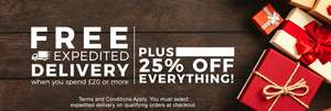 FREE EXPEDITED DELIVERY USUALLY £7.99 WITH £20 SPEND AND 25% OFF EVERYTHING BARGAIN CRAZY
