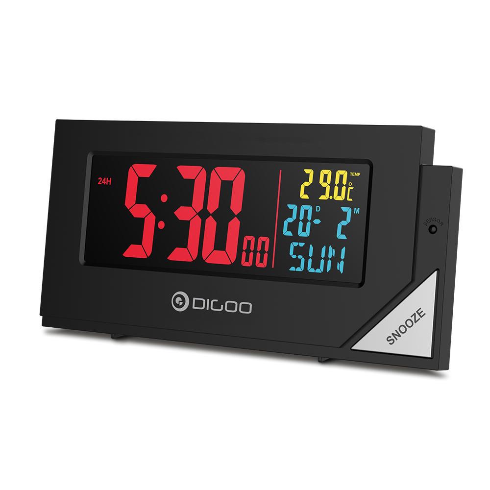 Digoo DG-C8 Wireless Full Color Digital Backlight Bedroom Alarm Clock with Light Sensor @ Banggood - £5.89