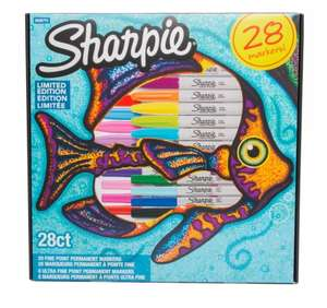 Sharpie Fish Limited Edition Permanent Markers, (Pack of 28) £9.99 @ W H Smith Free C&C