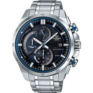 Casio Edifice Solar Stainless Steel Double Dial Bracelet Watch, £89.99 at H.Samuel