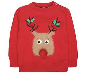 Kids Reindeer jumper £6.50 + up to 50% off Xmas clothing free click and collect @ mothercare (more in OP)