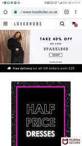 40% off everything at lovedrobe