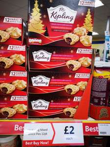Mr Kipling 12pack variety (3 flavours) decorated mince pies @ heron foods