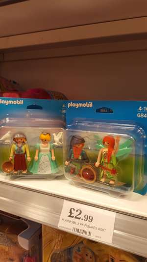 Playmobil 2 pack Figures £2.99 @ Home Bargains