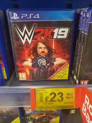 WWE 2K19 PS4 Asda Living Peterborough £23