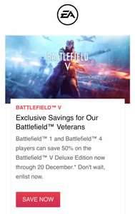 BfV if you have bf1/bf4 All platforms £27.50 @ EA